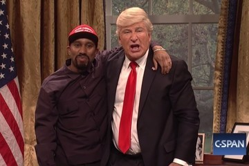 'Saturday Night Live' Nailed A Spoof Of Trump And Kanye's Oval Office Meeting