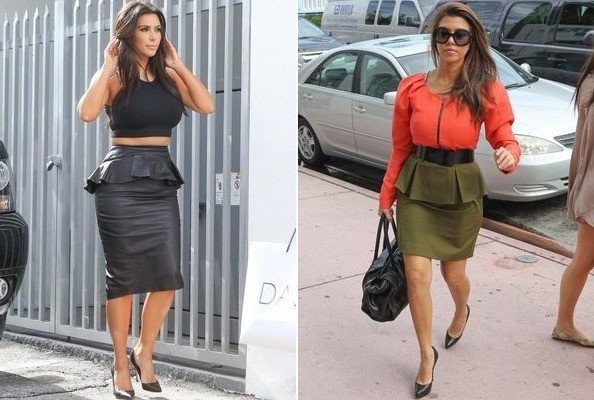 Peplum Power: Kim K and Kourtney K Keep the Trend Alive