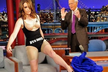 Tina Fey Strips Down to Her Underwear on 'Letterman' in Both Tribute and Protest