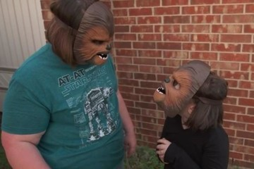 Viral Chewbacca Mask Woman Gifted With Free 'Star Wars' Swag for the Whole Family