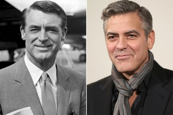 Actors From Different Eras Who Look Amazingly Alike:  Cary Grant & George Clooney LXl97jJHaE-l