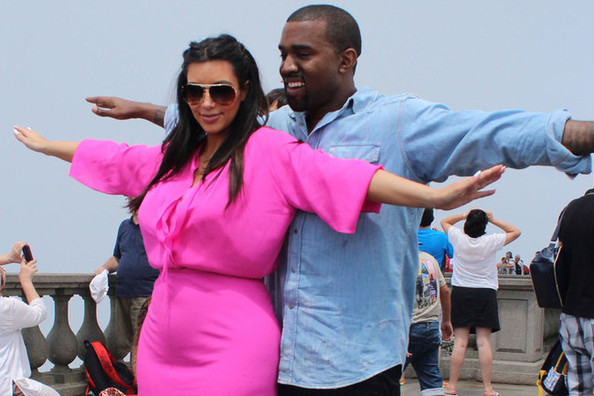 Kim Kardashian Turns on the Brights in Brazil