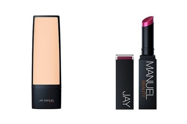 Jay Manuel Beauty Skin Perfector Foundation, $38; and Ultimate Lipstick in Shame, $24; at hsn.com