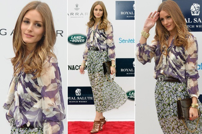 How to Mix and Match Florals Like Olivia Palermo