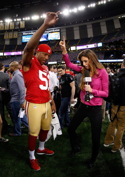 Former Miss Alabama Katherine Webb Makes Journalistic Debut at Super Bowl XLVII Media Day