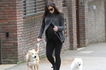 Jenna Dewan Tatum taking a stroll with her dogs