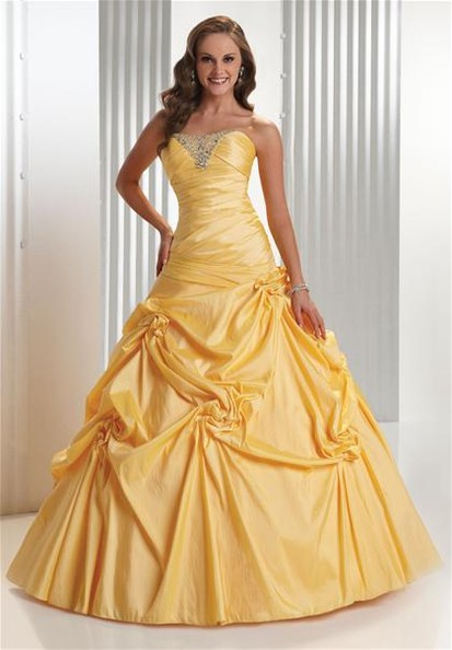 Princess style prom dresses 2010 prom dresses zimbio for Beauty and the beast style wedding dress