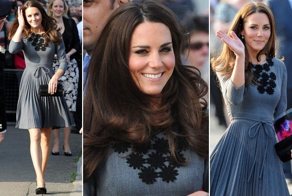 Look of the Day: Kate Middleton's Pretty Pleats