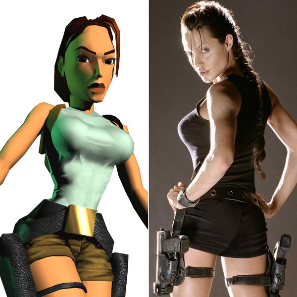 Angelina Jolie As Lara Croft In Tomb Raider Video Game