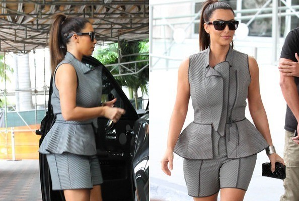 Love it or Loathe it: Kim Kardashian's Piped Peplum Backwards Skort-Suit