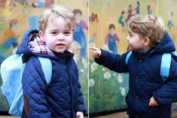 Prince George Wearing a Tiny Backpack on His First Day of Nursery School Is Too Cute
