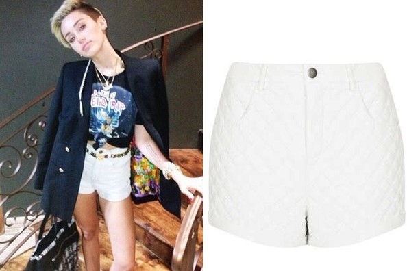 Where to Buy Miley Cyrus's Quilted Shorts