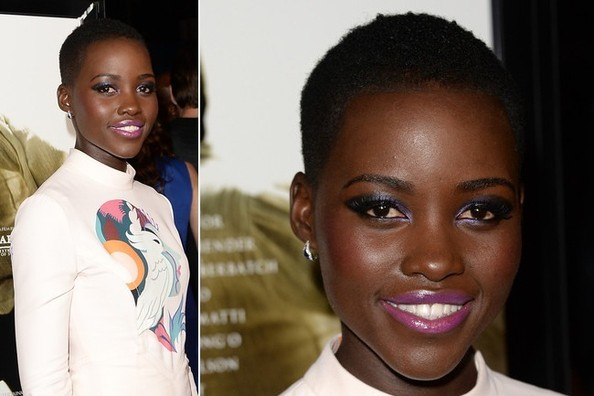 Lupita Nyong'o Makes Us Want to Wear Hot Pink Lipstick Right This Second