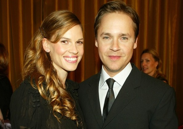 Photo of Chad Lowe & his friend  Hilary Swank