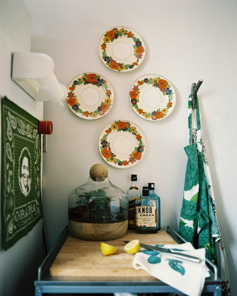 Plates hung as wall art | Lonny.com