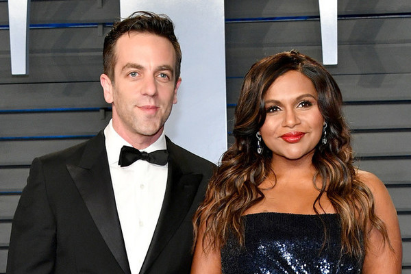 Mindy Kaling and BJ Novak attend Vanity Fair Oscars party together