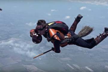 Skydivers Playing Quidditch in the Air: Crazy or Awesome?