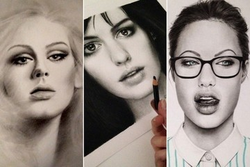 This Talented Artist Draws Ultra-Realistic Pictures of Celebrities with Graphite