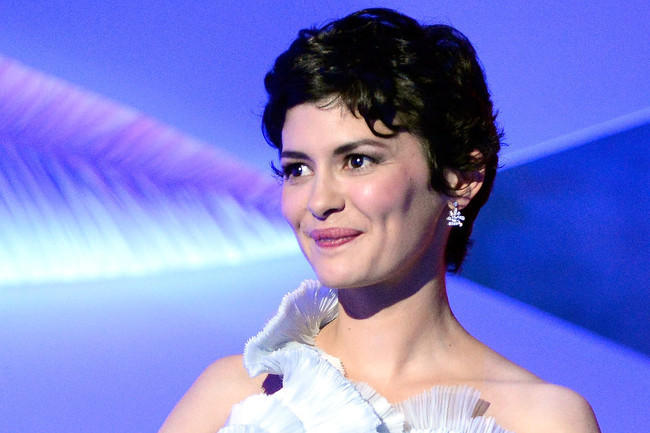 Audrey Tautou's Ethereal Blue Gown