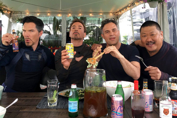 the science bros are living the dream on the set of avengers