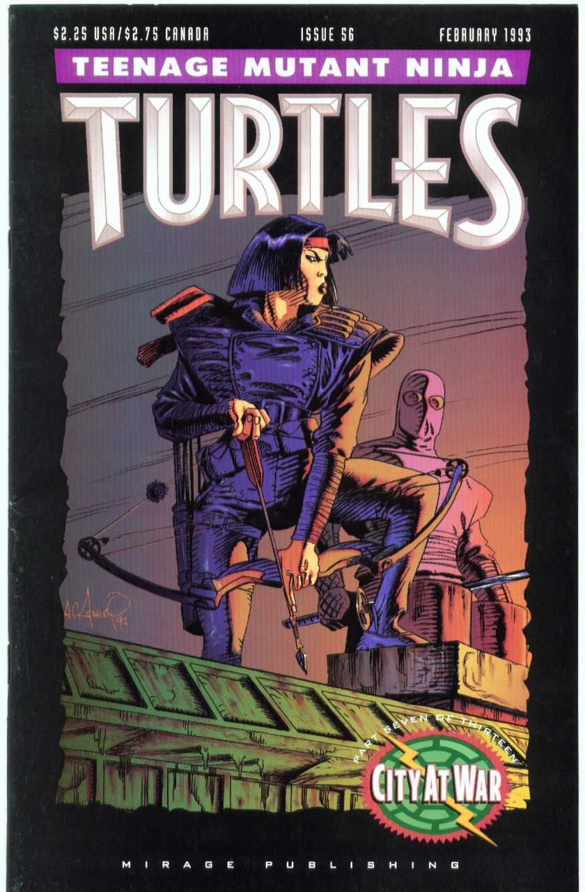 Karai was given her first cover on Issue 56 of Mirage's 'Teenage Mutant Ninja Turtles' title.