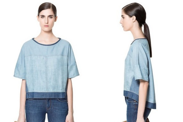StyleBistro STUFF: Zara's Mixed Chambray Top