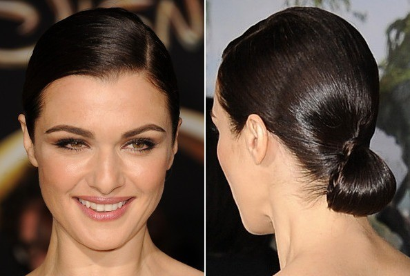 Get the Look: Rachel Weisz's Sleek Low Bun at the 'Oz' Premiere
