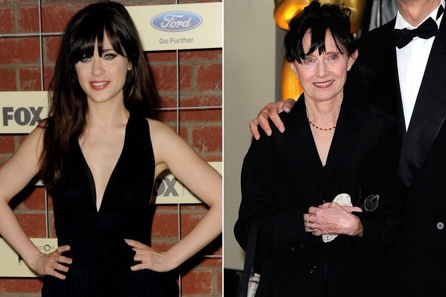 zooey amp mary jo deschanel celebrity lookalike moms