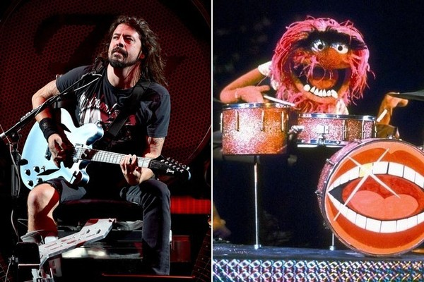 Dave Grohl Vs. Animal the Muppet: the Great Drum-off