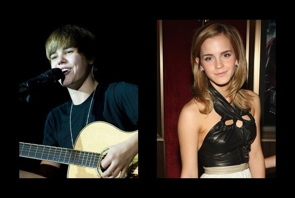 Justin Bieber was rumored to be with Emma Watson