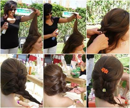Spruce Up Second-Day Hair With A Romantic Floral Braid