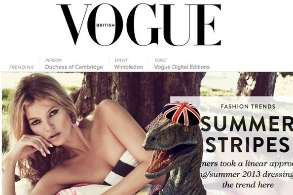 Raptors in Hats Appear When You Type This Code on 'Vogue' UK's Website