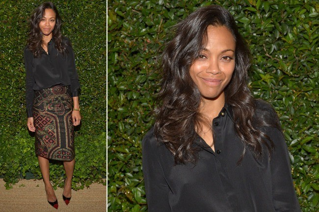 Zoe Saldana's Cool Polished Separates