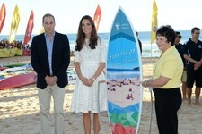 William and Kate Hit the Beach