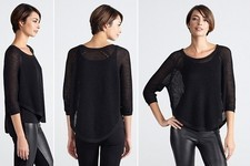 Current Obsession: Eileen Fisher Linen Poncho Top