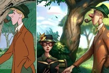Photoshop Wizard Transforms Disney Scenes into Works of Art