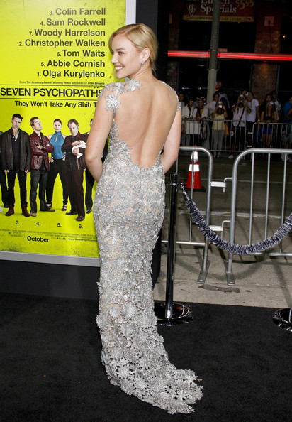 Abbie Cornish - Abbie Cornish seen arriving to the Hollywood premiere of new film 'Seven Psychopaths' held a the Mann Bruin Theatre, Los Angeles
