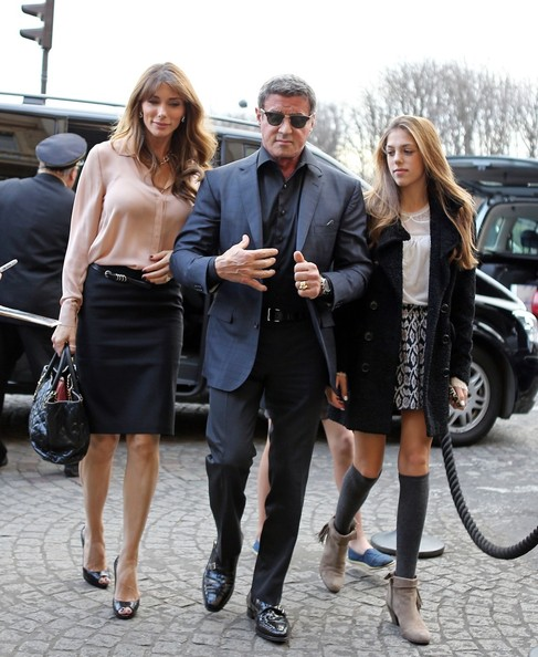 Sylvester Stallone and Family Enjoy Thanksgiving in Paris