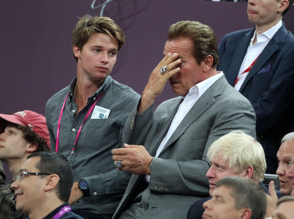 Arnold Schwarzenegger in Celebs at the Closing Ceremony ...