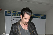 Actor Colin Farrell grabs a coffee from the Starbucks at Lax airport