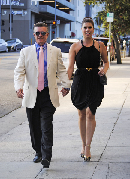 ... in this photo alan thicke tanya callau actor and comedian alan