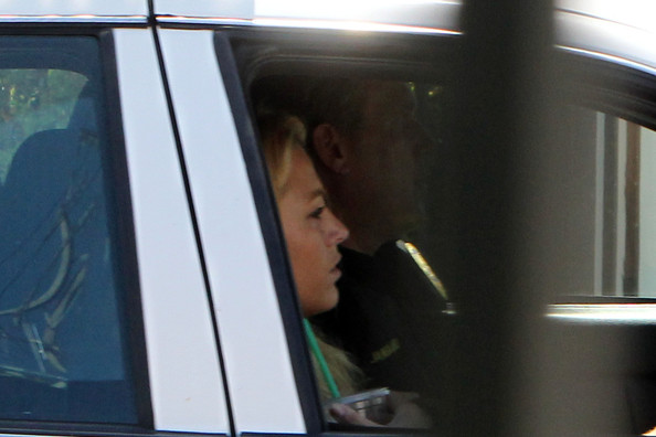 Actress Blake Lively is seen leaving Sharpshooter shooting range in a police car in Los Angeles.