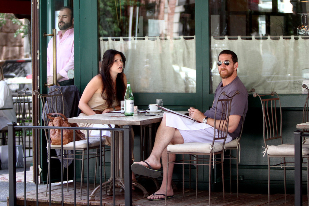 Adam Dell Photos Photos - Adam Dell Gets Lunch with a