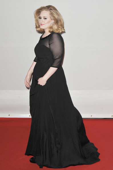 Adele - Adele and Others Arrive at the 2012 Brit Awards in London