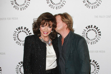 """Joan Collins Adhir Kalyan of """"Rules of Engagement"""" at the Paley Center in Beverly Hills with special guest Joan Collins at the event"""