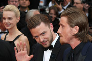 Carey Mulligan, Justin Timberlake and Garrett Hedlund attend 'Inside Llewyn Davis' Premiere during the 66th Annual Cannes Film Festival at Palais des Festivals in Cannes.