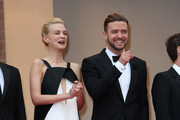 Carey Mulligan and Justin Timberlake attend 'Inside Llewyn Davis' Premiere during the 66th Annual Cannes Film Festival at Palais des Festivals in Cannes.