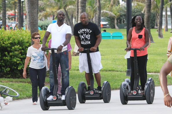 Akon And Friends Ride Segways In Miami Beach