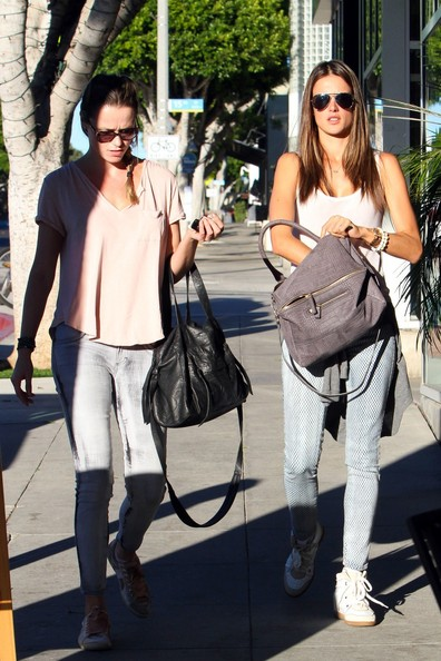 Alessandra Ambrossio shops her afternoon away with DJ Tatiana Fontes