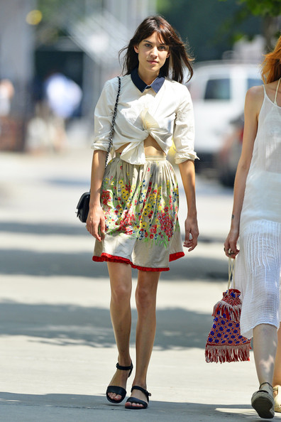 Alexa Chung seen out and about at SoHo in New York City.